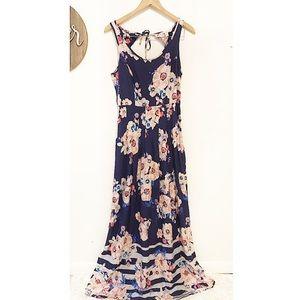 Lauren Conrad maxi floral tie back tank top dress